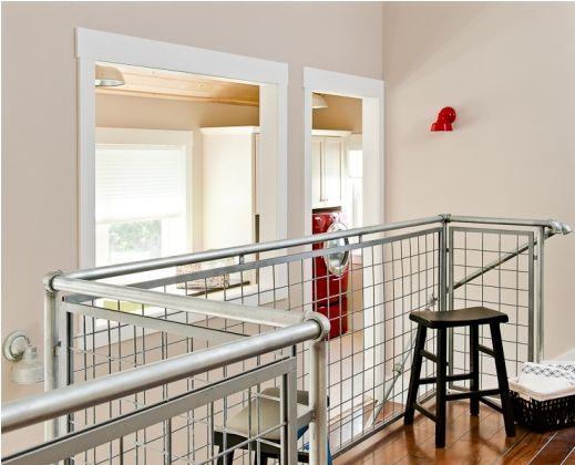 galvanized plumbing and hog panel handrails