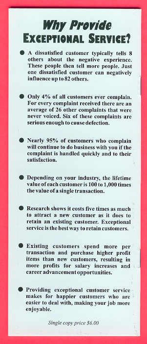 Worlds Best Customer Service Tips. I should forward this to Don Jose's after the terrible service and nasty food they had. DID YOU KNOW