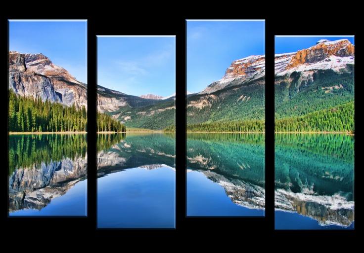Virtual 4 panel canvas print of Emerald Lake by *Joe-Lynn-Design on deviantART