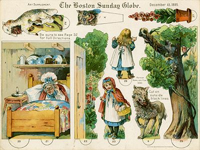 Toy Theater - Little Red Riding Hood - Boston Sunday Globe