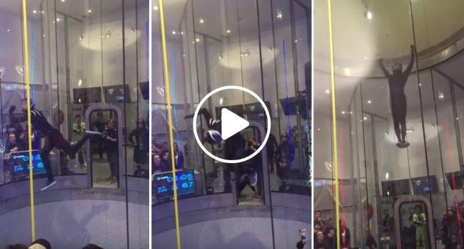 A Melhor Demonstração De Como é Dançar Num Simulador De Queda Livre