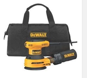 Electric Hand Sanders – DEWALT D26451K Corded 3 Amp 5-Inch Random Orbit Sander. Quality and comfort come together with this sander. Built-in dust bag and convenient carry bag for storage and portability.