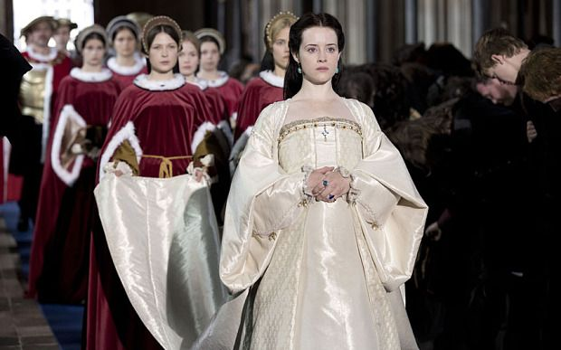 Claire Foy stars as Anne Boleyn in the BBC's upcoming adaptation of Wolf Hall, beginning on January 21st.