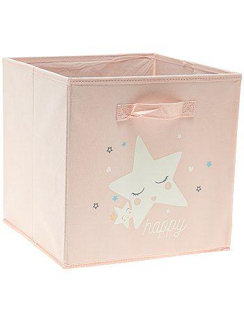 Boîte de rangement en intissé                             rose Bébé fille   - Kiabi