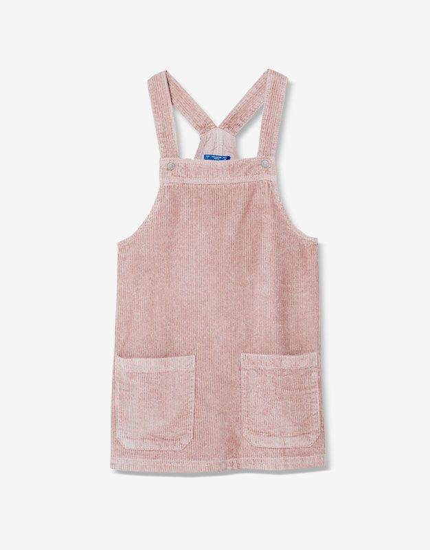 Corduroy A-line pinafore dress - Sale favourites - Clothing - Woman -  PULL BEAR Portugal c33be38bc370