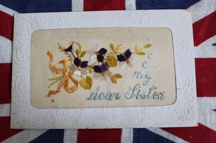 WW1 Silk Postcard 'To My Dear Sister', £6.00