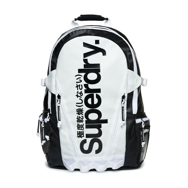 Superdry Mono Tarp Backpack ($75) ❤ liked on Polyvore featuring men's fashion, men's bags, men's backpacks, black, mens laptop backpack and mens backpack