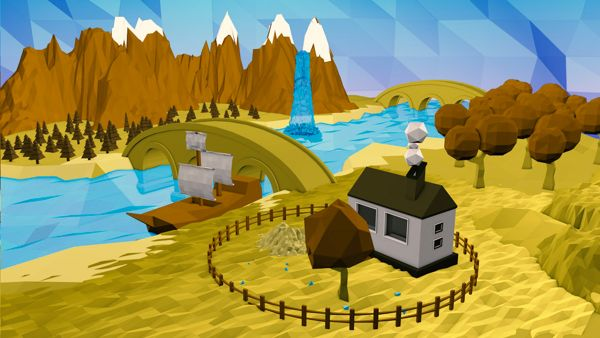 landscape Low Poly by Mostafa Mohamed, via Behance