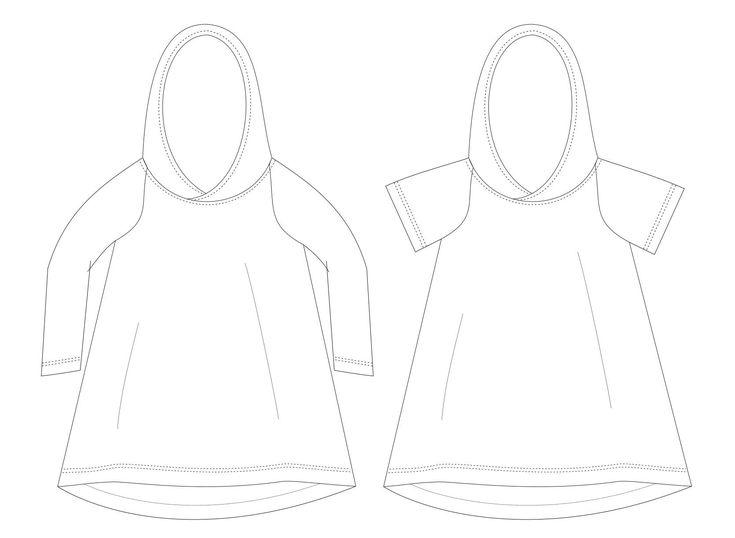 Raglan dress Sewing Pattern PDF, baby dress pattern, girl sewing pattern.