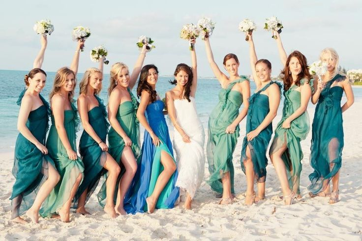 Ocean themed bridesmaid dresses one of my favorite for Ocean themed wedding dress