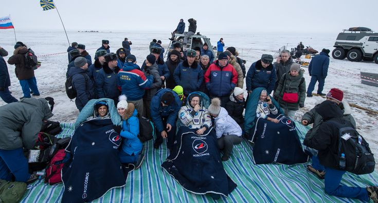 Three members of the Expedition 54 crew aboard the International Space Station (ISS), including NASA astronauts Mark Vande Hei and Joe Acaba, returned to Earth on Tuesday after months of performing research and spacewalks in low-Earth orbit.