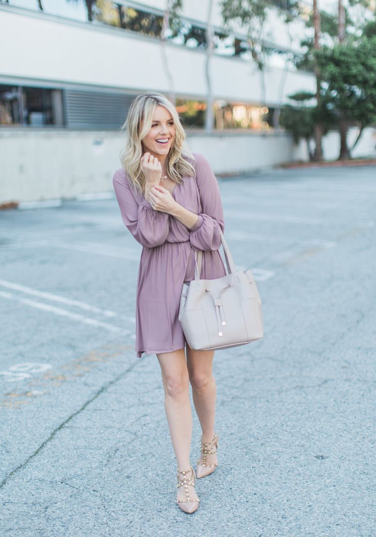 Light Pink Dress - Cool Winter Colors | Ali Fedotowsky
