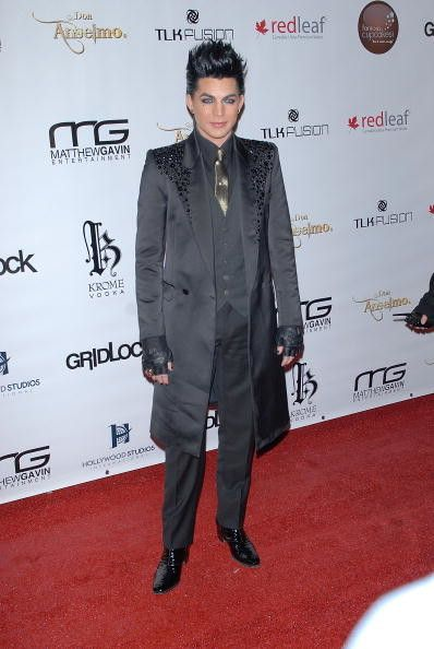 Singer Adam Lambert arrives at the 4th Annual Gridlock New Years Eve party, held on the Paramount Studios lot on December 31, 2009 in Hollywood, California.