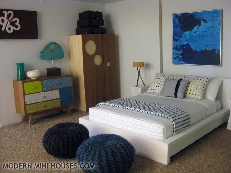 52 best barbie master bedroom images on pinterest for Dollhouse bedroom ideas