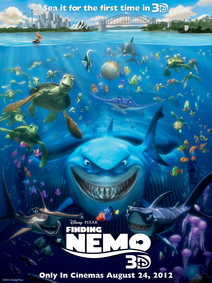 Finding Nemo will soon be released in 3D. Who is your favourite character from this animated adventure?