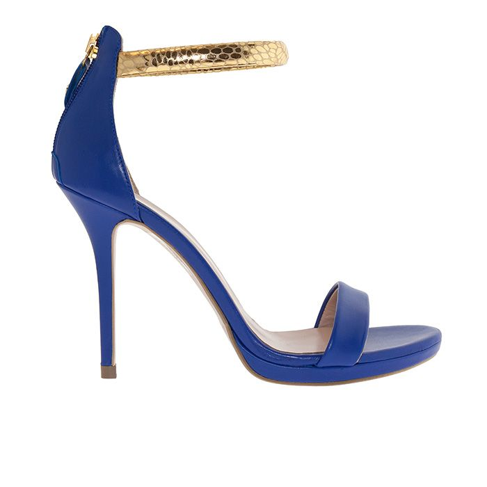 1008B19_BLUE LEATHER www.mourtzi.com #blue #shoes #mourtzi #sandals #somethingblue