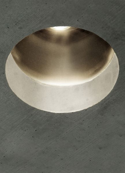 peter zumthor  2003  light fixture for interiors. to be recessed in concrete