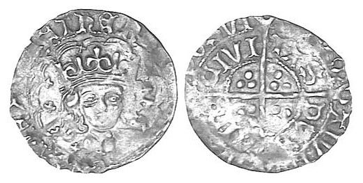 Henry VII, (1485-1509), silver groat, 'late portrait issue coinage', early issue c.1496-1505, Dublin mint, obv. bust of king facing, parts of legend around hEn.., rev. cross, three dots in each angle DVB/LIN CIVI/TAS etc., (S.6451). Dark tone, usual partial flan, otherwise very fine, rare