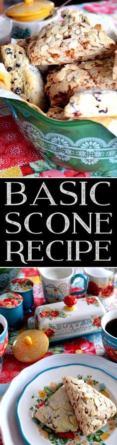 Scones are everyone's favourite, and with this Basic Scone Recipe, you can customize to your own tastes and preferences. Add chocolate chips, almonds, dried cherries, cranberries, or blueberries; how about shredded coconut, raisins, or flavoured extracts? Endless possibilities; always delicious…