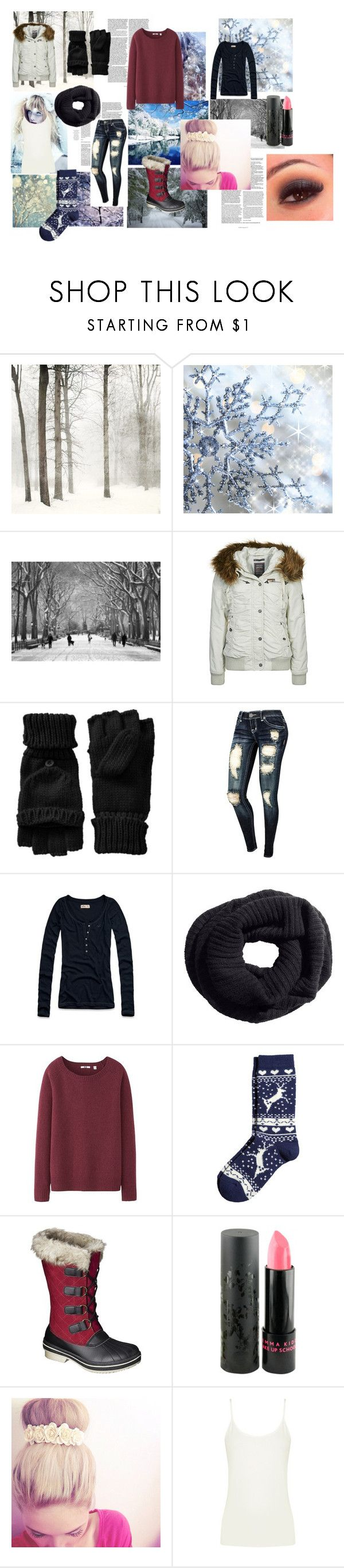 """""""Winter"""" by victoria-nelson-i ❤ liked on Polyvore featuring DreiMaster, Old Navy, Hollister Co., H&M, Uniqlo, Jemma Kidd and Oasis"""