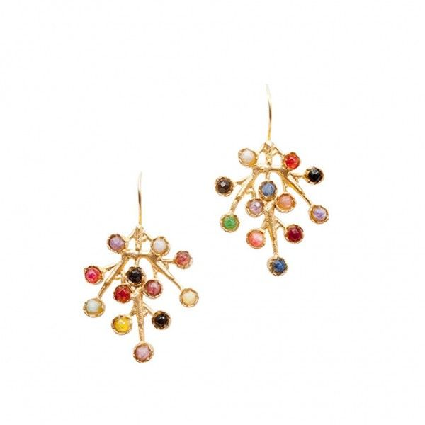 Puntillista earrings multicolor SPANISH AND SISTERS