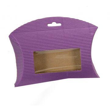 Cajita Sobre Microcanal Violeta, tiene ventana transparente que permite ver el contenido.  #diy