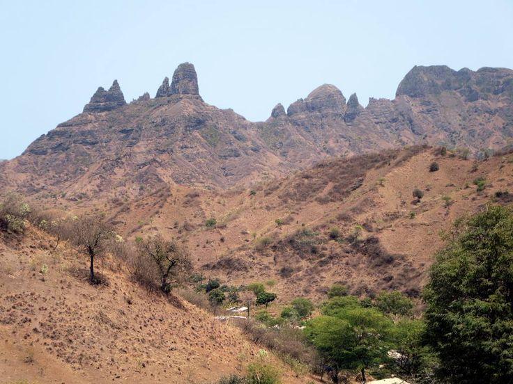 The mountain scenery at São Jorge dos Órgãos in the center of Santiago Island, Cape Verde, is spectacular.