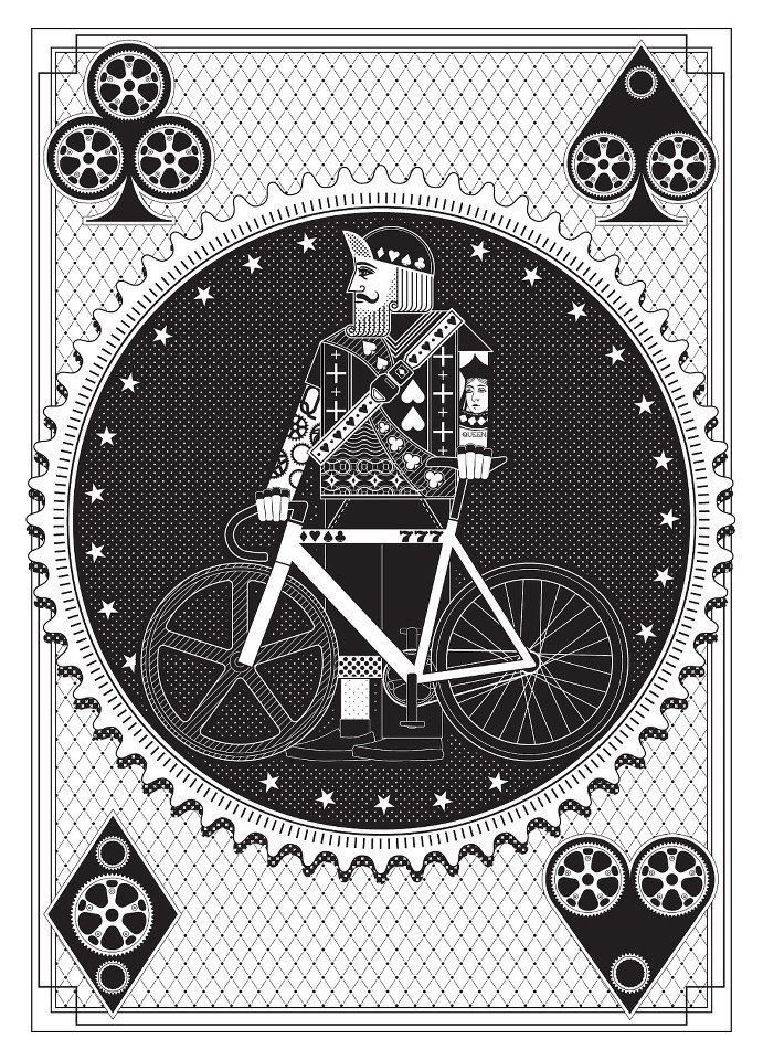 Bicycle Graphic Design - Spoke Card