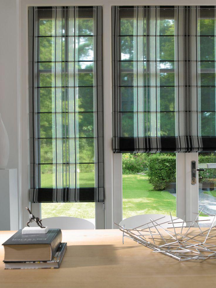 Te koop bij Caspar Dekkers interieurs www.cdinterieurs.nl  Luxaflex® Roman Shades - zwart