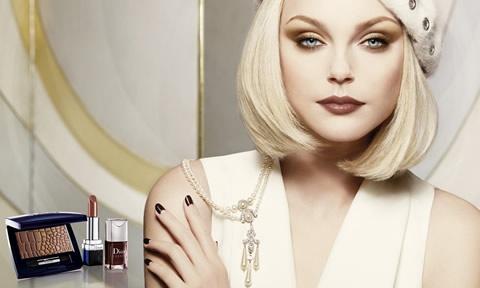 make up anni 20 effetto porcellana per Christian Dior