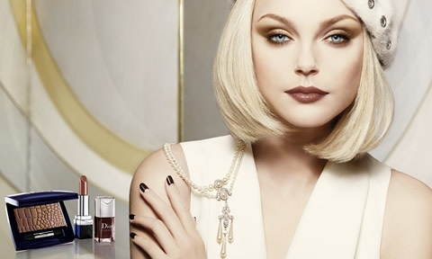 make up anni 20 effetto porcellana per Christian Dior