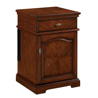 Twin Star Tresanti End Table With Compact Refrigerator   Rose Cherry. Good  Idea For The Theater Room. | Lights Camera Action!