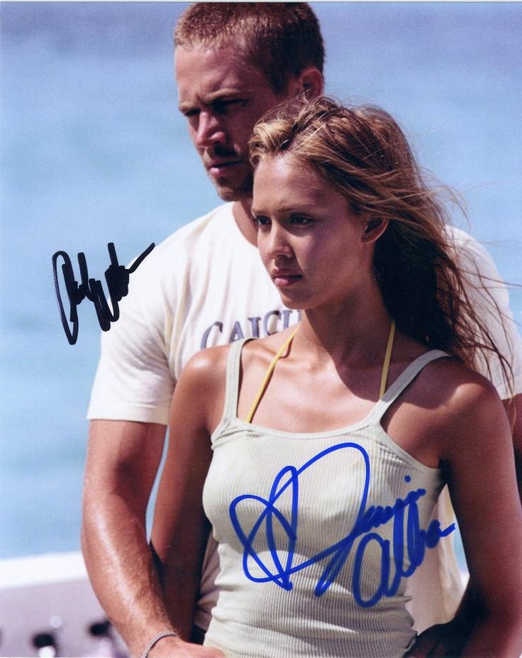 Jessica Alba Paul Walker Original Hand Signed 8 x 10 Into The Blue   eBay