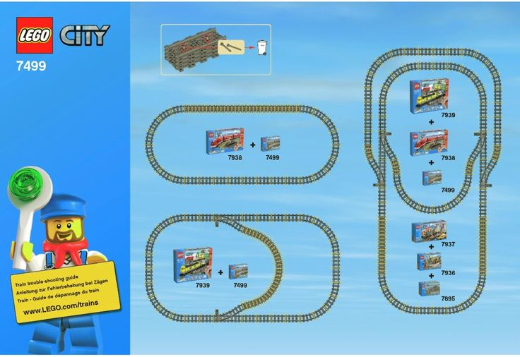 LEGO Flexible and Straight Tracks Instructions 7499, City