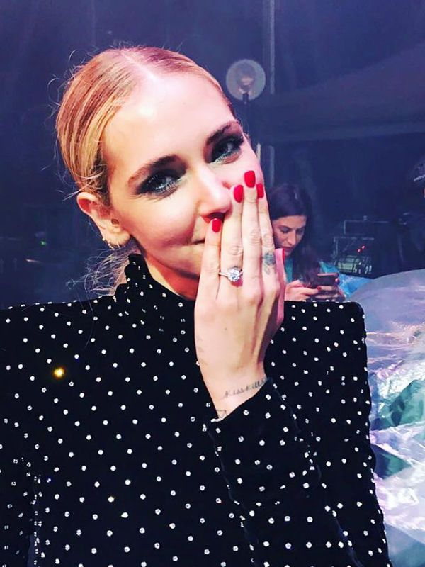 Chiara Ferragni i jej pierścionek zaręczynowy