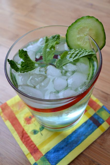 Thirsty Thursday: Cucumber, Mint, and Basil Soda | drinks | Pinterest ...