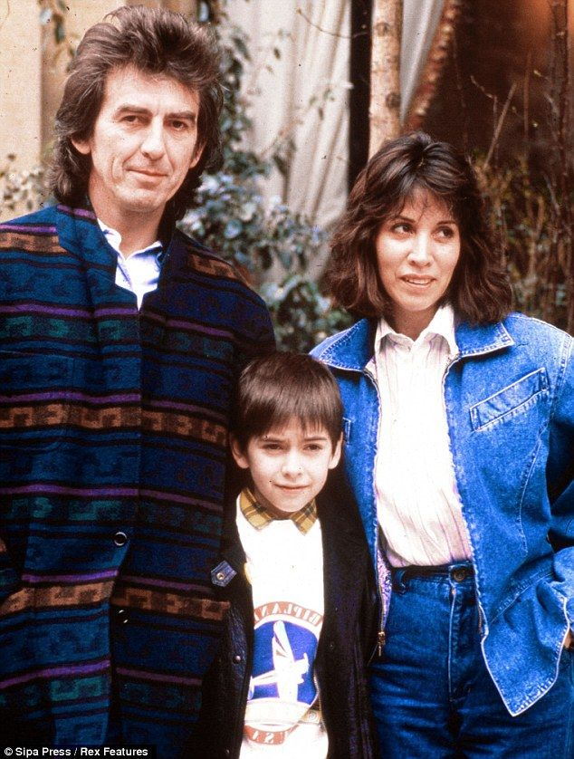 George married Olivia in 1978 and welcomed Dhani the same year, they met when she was working his production company, Dark Horse, in Los Angeles