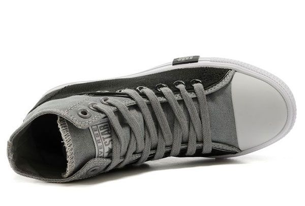 Converse Two Layer High Top Grey Black Chuck Taylor All Star Sneakers #converse #shoes
