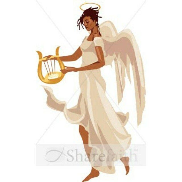 #PicOfTheDay #BlackArt #BlackAngel #love #peace #harmony #beauty #grace #harp #BlackAngels #HeavenlyAngel #DiabetesSUCKS #Smile4Deb