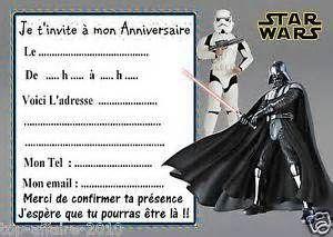 Détails sur 5 cartes invitation anniversaire star wars 03 d'autres en ...