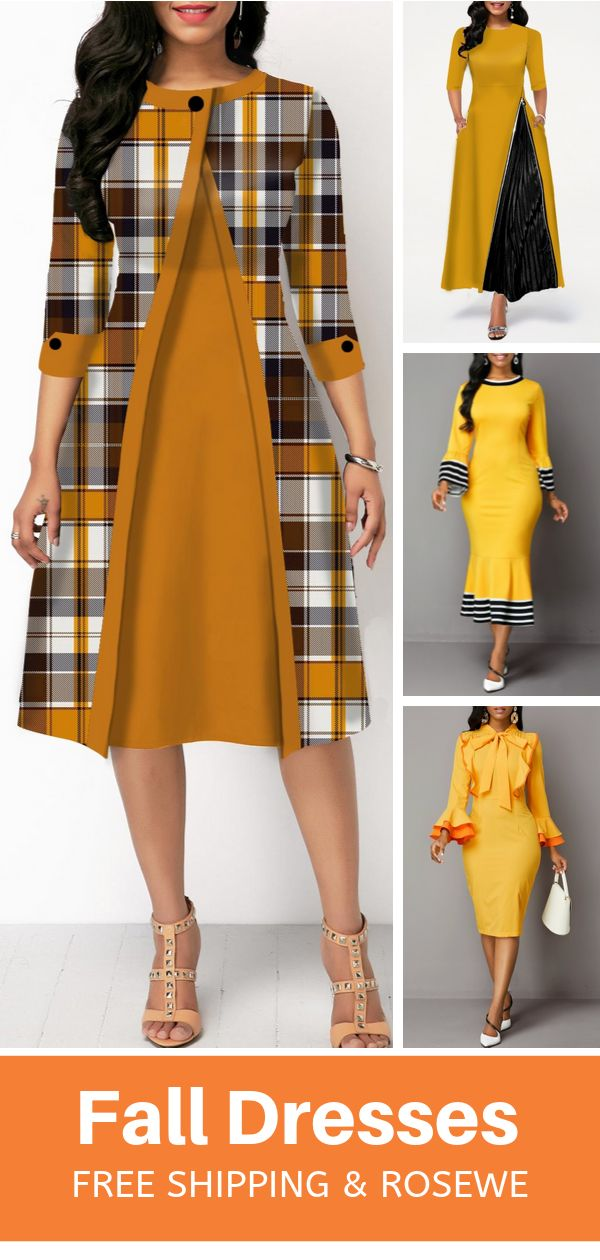 2019's Hottest & Rosewe 10+ Women's Fashion Fall Dresses