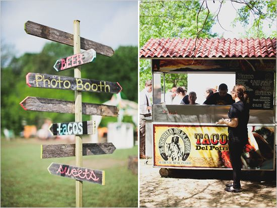 Taco Truck at Wedding >> This would be a must if my husband and I had a wedding re-do! Brilliant!
