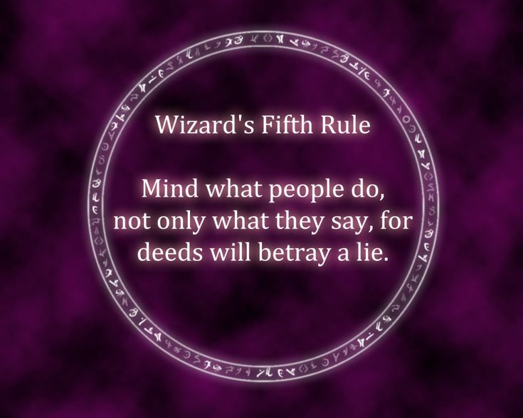From Terry Goodkind's Sword of Truth series