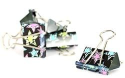 """#Zebra #Stars #Binder #Clips - Brighten up your classroom in style with vibrant colored stars outlined in zebra stripes. Zebra Stars offers great #teacher resources to decorate your #classroom and organize your day. Motivate your #students to """"Be a Star"""" with an out-of-this-world theme."""