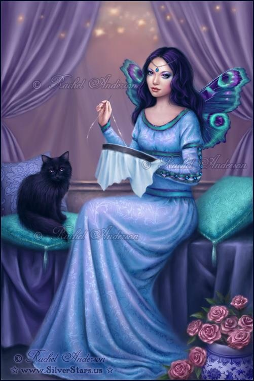 Cross Stitching Fairy