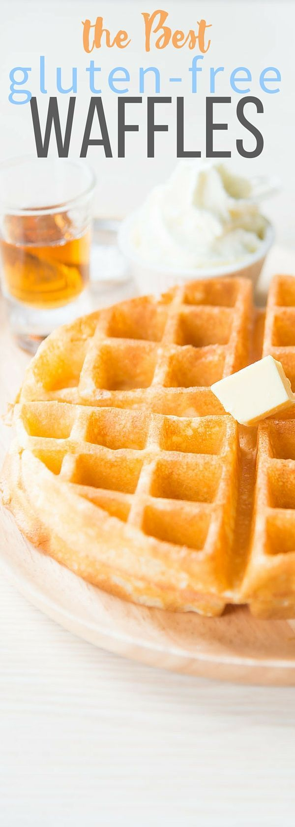 This is the best gluten-free waffle recipe! Crisp on the outside and soft on the inside...perfect for Sunday breakfast.