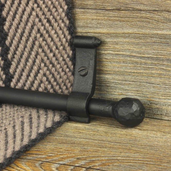 blacksmith black finish ball plain stair carpet runner rods