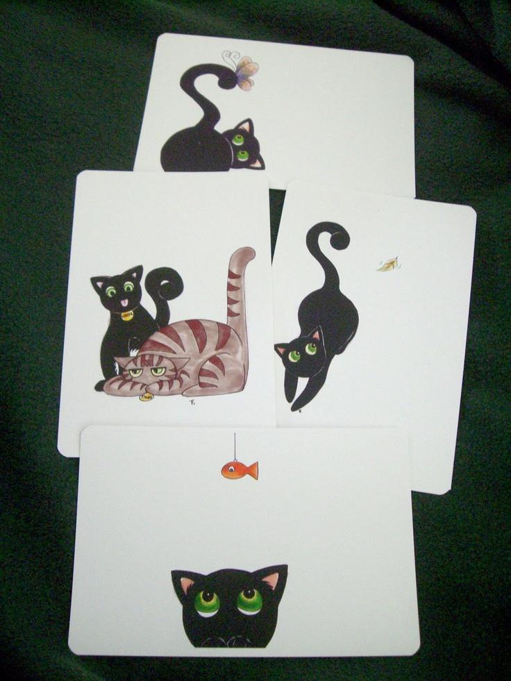 Goober the #Cat (4) #Postcard Set #thecraftstar $4.25