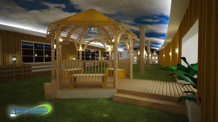 Propuesta interiorismo Mini Golf - Puyehue - Osorno - Arquitecto: Diego Rojas
