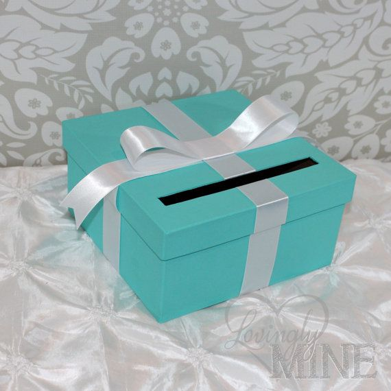 Best 25 card holder boxes ideas on pinterest collectible cards inspired box tiffany blue and white gift money box for any event breakfast at tiffanys sciox Image collections